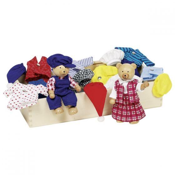 caja con ropa de los osos Benna y Bennoh, de Goki