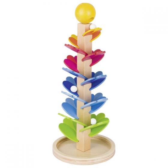 Juego de caninas: pagoda de sonidos colorido de madera, de Goki