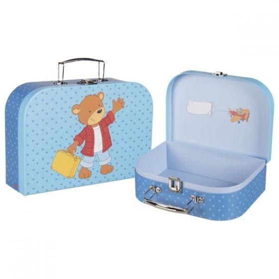 Set de 2 maletas con estampado de osito, de Goki