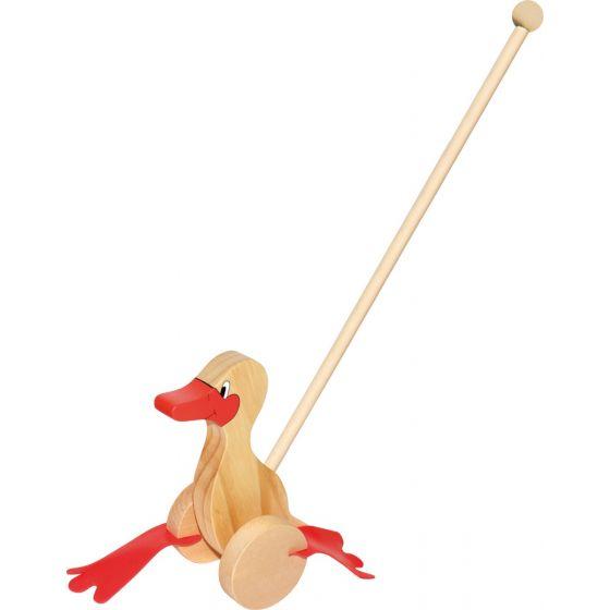 Animal de madera para empujar Pato