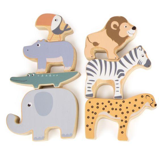 Juguete de madera para apilar, Safari