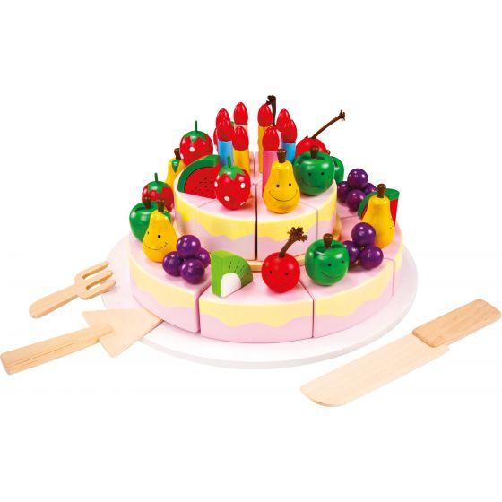 Aprender a cortar Tarta de Cumpleaños - Juguete de madera