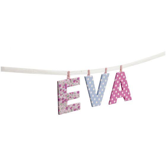 Letras de Tela Infantiles Colgantes en  Color Pastel