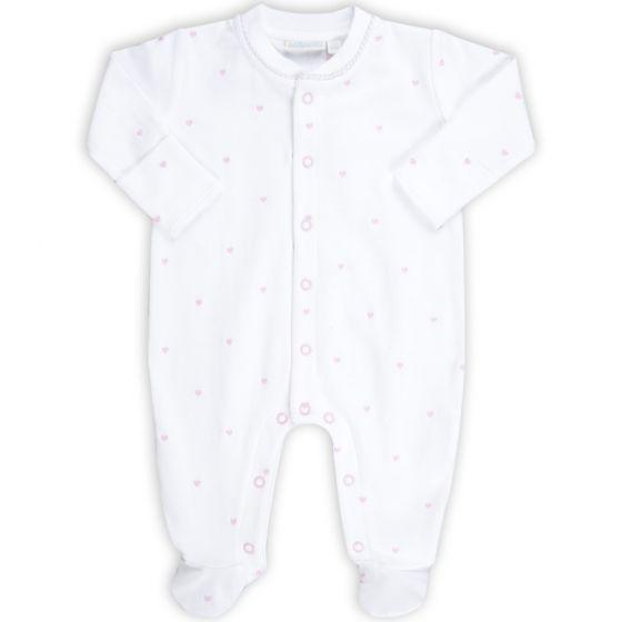 Pijama para Bebé Bordado de Corazones Rosas