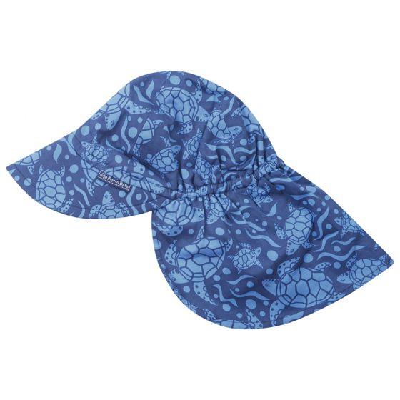Gorra con Protección Solar para Bebés y Niños Estampado Tortuga Azul