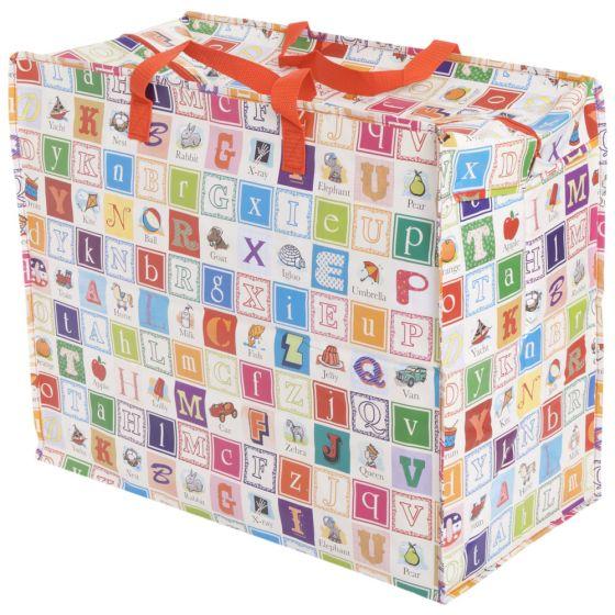 Bolsa para Guardar Ropa y Juguetes Diseño Alfabeto