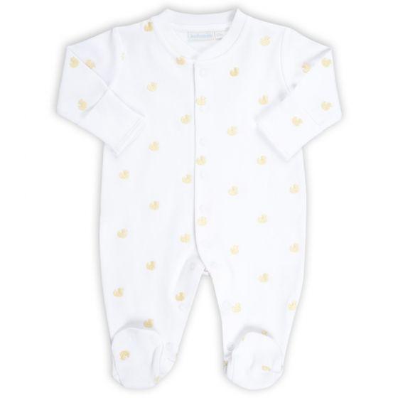 Pijama para Bebés Bordado con Patitos Amarillos