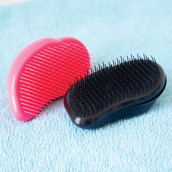 Cepillo Anti-Tirones para Niños. Color Rosa.
