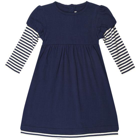 Vestido de Niña de Algodón en color Azul marino