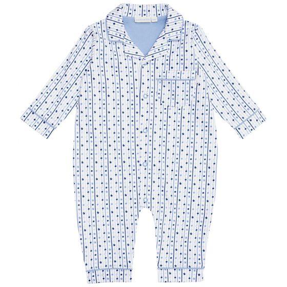 Pijama para Bebé Sin PIe Estampado Estrellas Azules
