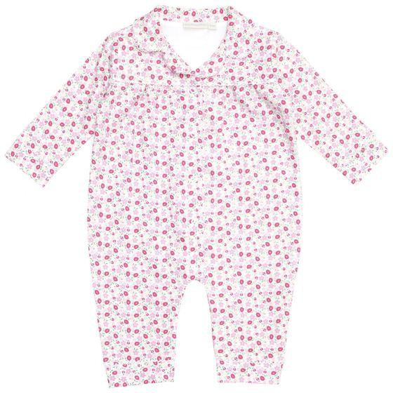 Pijama para Bebés con estampado de Pequeñas Flores Rosas