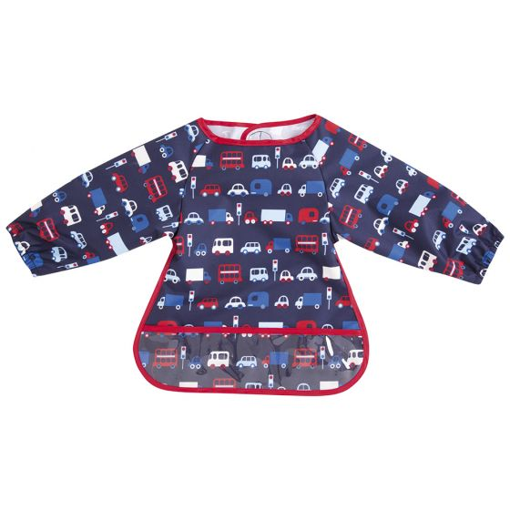 Babero de Manga Larga para Bebé  Impermeable con Estampado Transportes