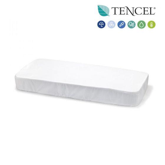 Bajera Blanca para Cuna 70 * 140 Cambrass Tencel