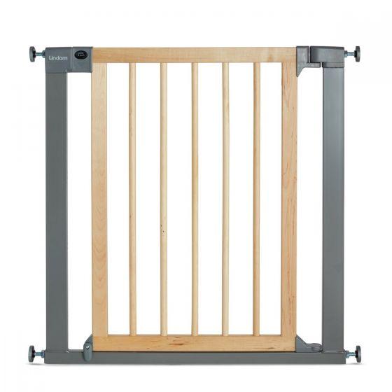 Lindam Puerta de seguridad metal en color Natural y Plata