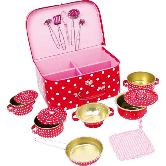 Batería de Cocina para Niños Puntitos - 15 piezas