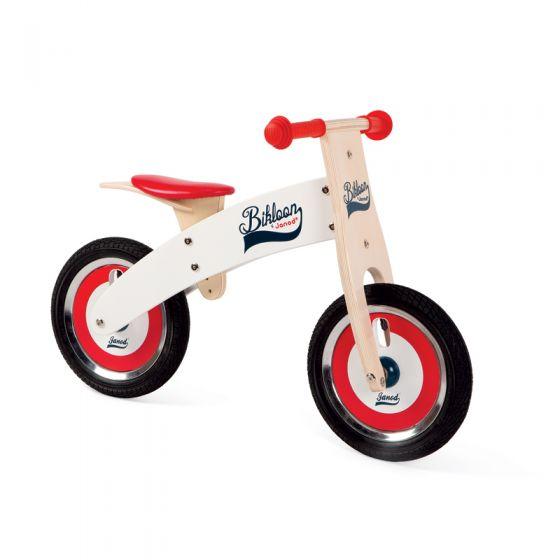 Bicicleta sin pedales Roja y Blanca con Casco - Janod