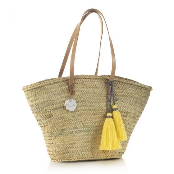 Bolso Palma de Playa Tassel amarillo Cambrass