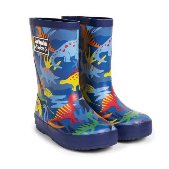 Botas de agua dinosaurios