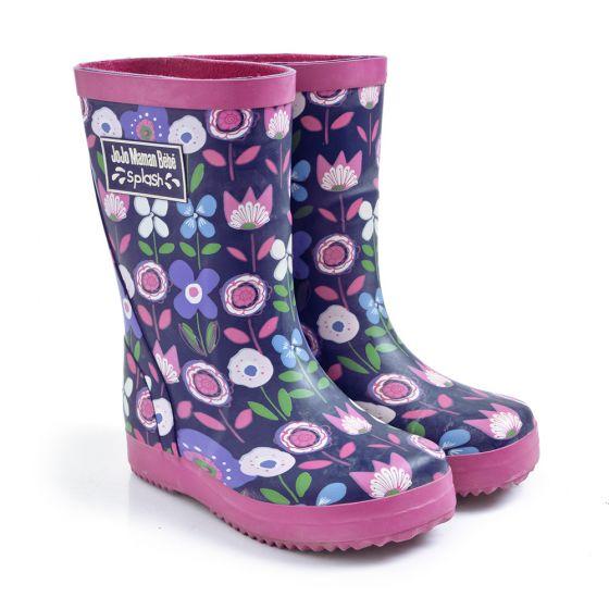 Botas de Agua para Niños estampado brillante floral
