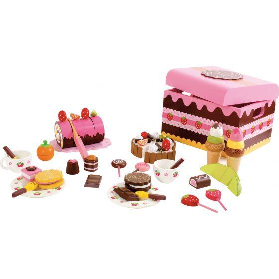 Caja de Dulces - 56 piezas - Juguete de Madera