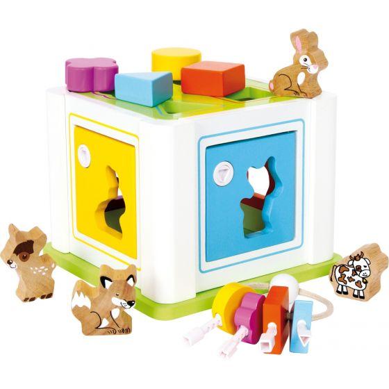 caja de encaje formas y animales