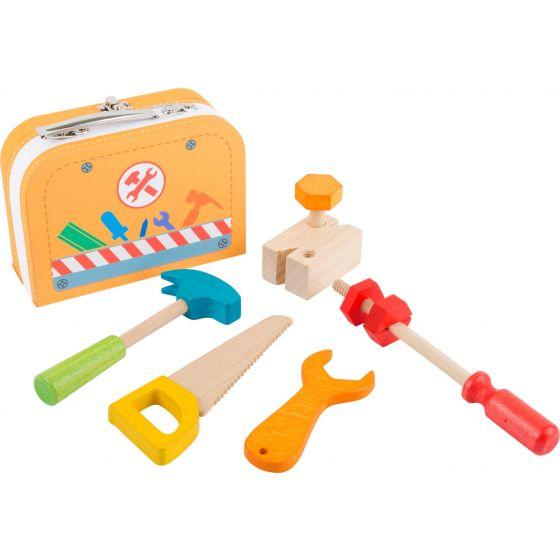 Caja de herramientas - Juguete de madera 9 piezas