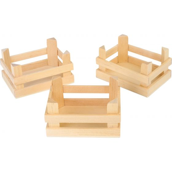 Cajas de madera Natural Pequeñas , 3 Unidades