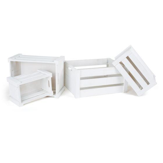 Cajas de madera Blancas