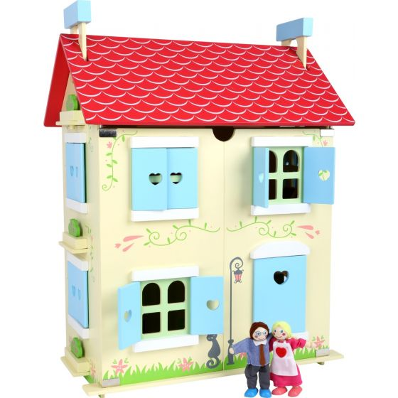 Casa de muñecas con techo desmontable