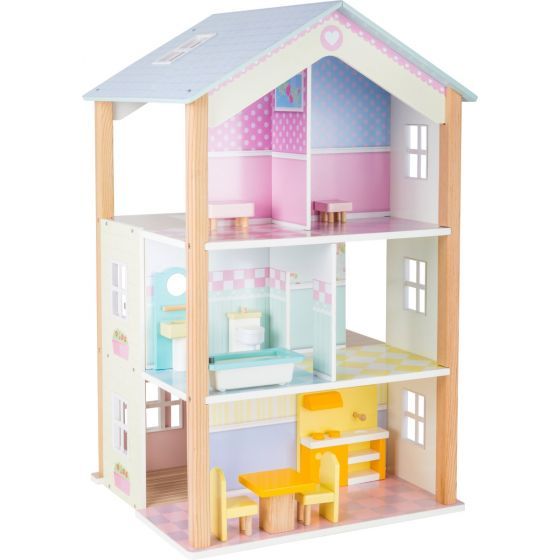 Casa de Muñecas de 3 pisos Girable - Legler
