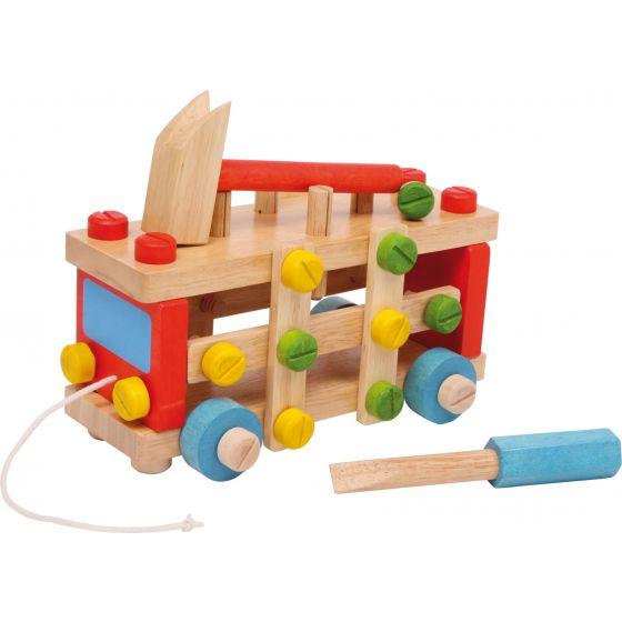 Coche de construcción - Juguete de madera