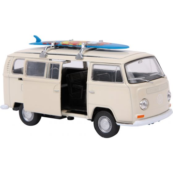 Coche Modelo VW Bus T2 con tabla de surf