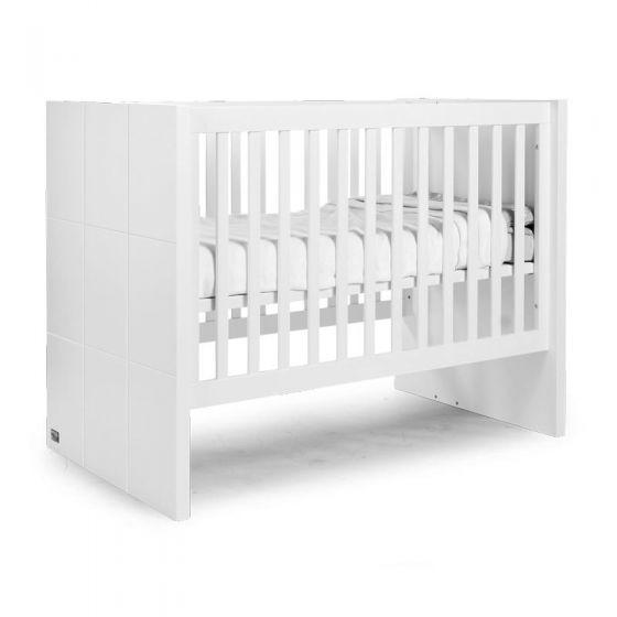 Cuna 60x120 transformable en Cama 90x200 Quadro White - Childhome