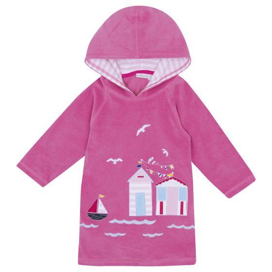 Albornoz de Niños Playa y Piscina - Color Rosa