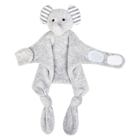 Doudou Sujetachupetes Elefante