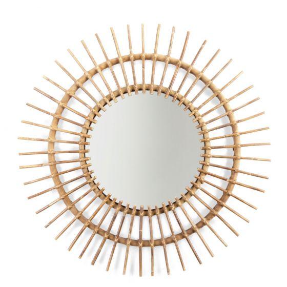 Espejo de ratán Aura - Childhome