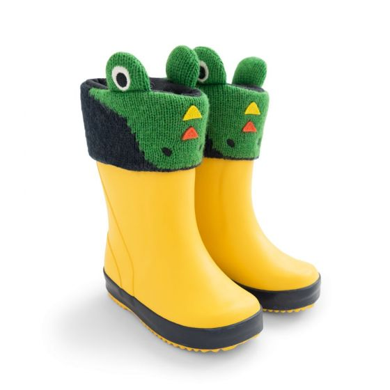 Forro para Botas de Agua para Niño Dinosaurio Verde