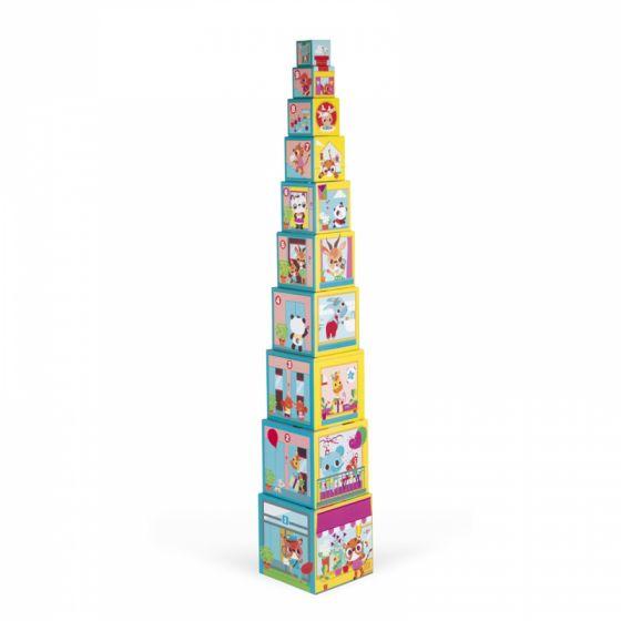 Janod Pirámide de Cubos Apilables