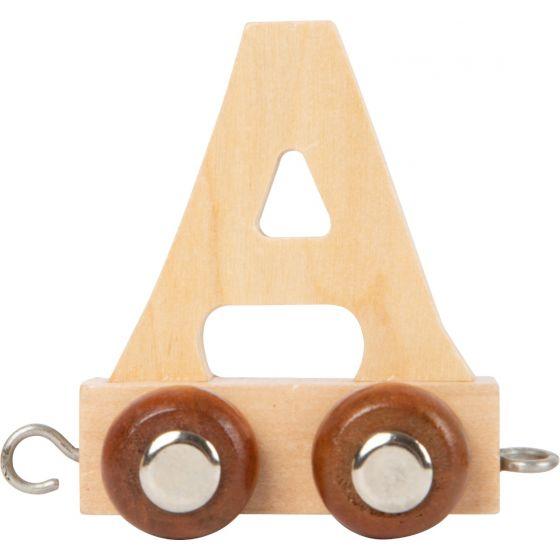 letra A Tren de letras de madera