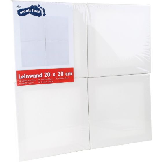 Lienzo 20 x 20 cm - 4 unidades