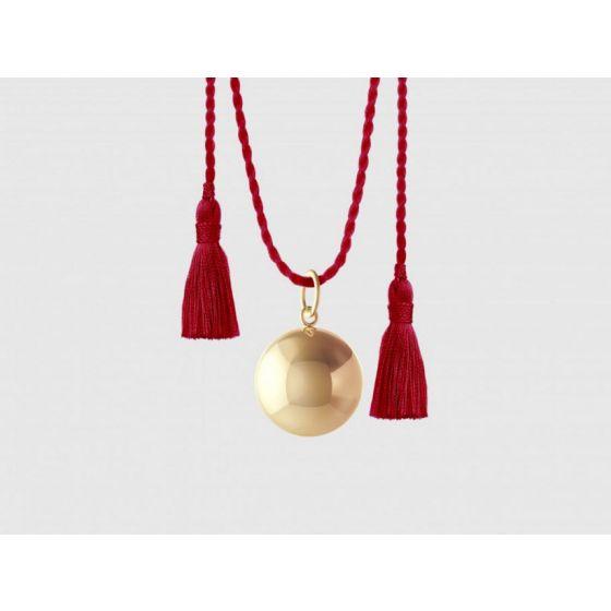 Llamador Ángeles Joy oro amarillo cordón rojo - ILado París