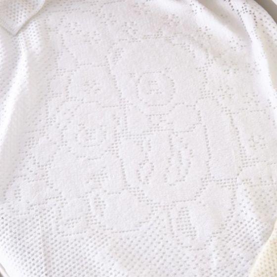 Manta de Felpa Osito 100 x 150 cm - Clair de Lune color blanco