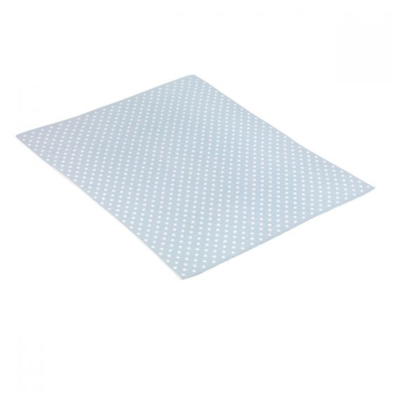Manta de Algodón Doty azul 80 x 100 cm - Cambrass