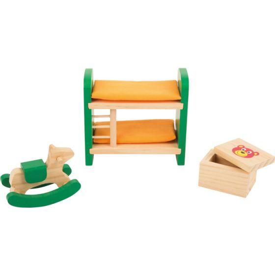 Muebles de madera dormitorio infantil de casita de muñecas