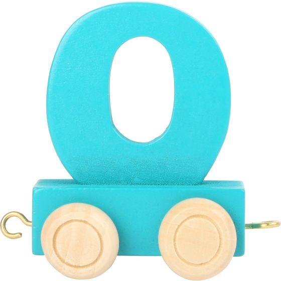 numero 0 de madera Tren de números de colores
