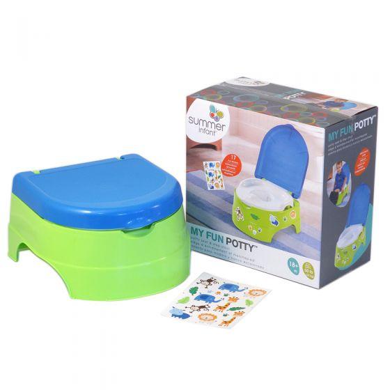 Orinal Divertido para Niños color verde - Summer Infant