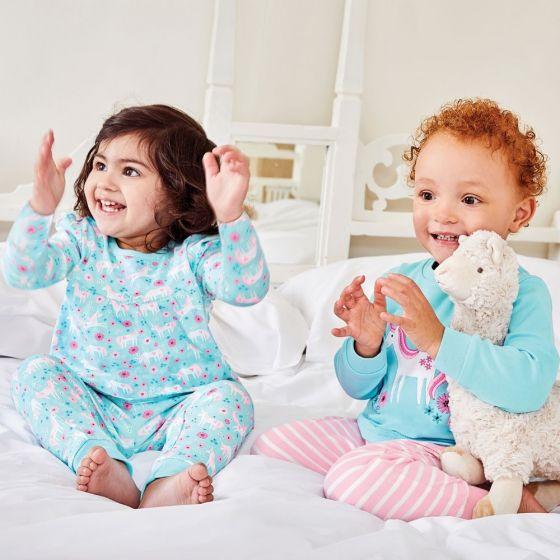 Pack de 2 pijamas para niña Unicornios