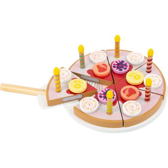 Tarta de cumpleaños para cortar con velas, 26 piezas