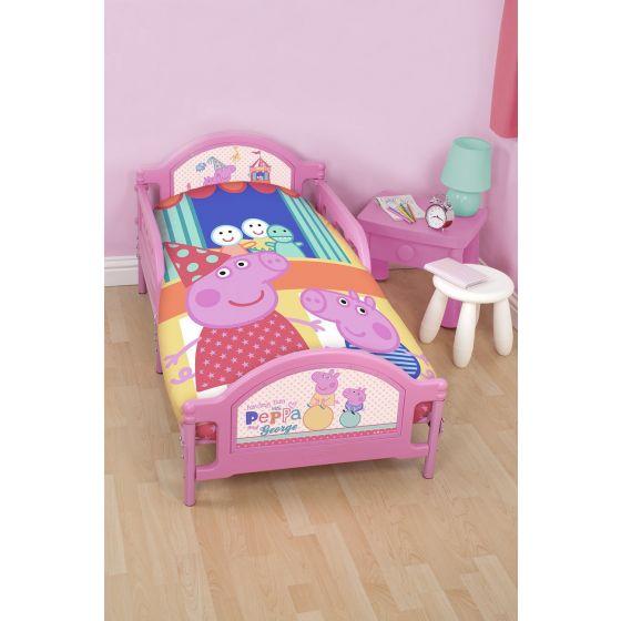 """Juego de funda nórdica y almohada para cama de niños """"Peppa Pig"""" de hasta 1.20m"""