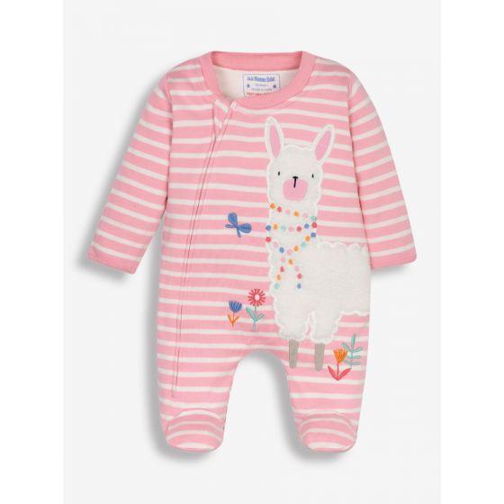 Pijama Bebé rosa con estampado Llama